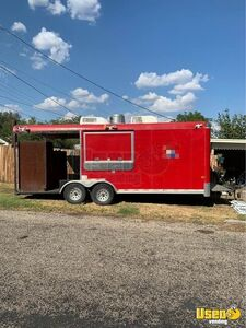 2009 - 9' x 28' Barbecue Rig Food Concession Trailer with Porch for Sale in Texas!