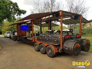 NEW  30'  Pro BBQ Competition Rig Concession Trailer Open Kitchen for Sale in Texas!