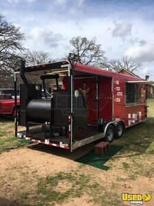 Gorgeous 2016 - 8' x 24' BBQ Concession Trailer with Porch / Used Barbecue Rig for Sale in Texas!