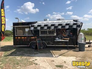 Fully Outfitted 22' 2018 Barbecue Food Trailer with Enclosed Porch for Sale in Texas!