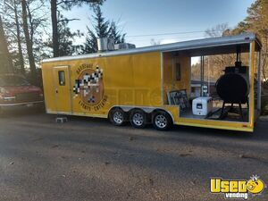 2011 Continental Cargo 8.5' x 28' BBQ Food Catering Trailer with Porch for Sale in Virginia!