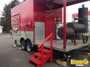 2013 - 8.6' x 23'  BBQ Pit Rig Food Concession Trailer with Porch for Sale in Washington!