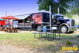 45' Semi Peterbilt Conversion Diesel BBQ Food Truck Barbeque Rig w/ 2018 Kitchen for Sale in Texas!