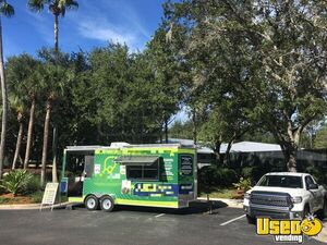 2018 - 7.6' x 20' SOLAR Concession Trailer with Porch for Sale in Florida!!!