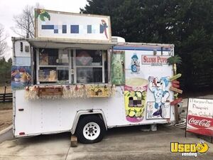 2002 International 7' x 14' Used Beverage Concession Trailer/ Tiki Hut for Sale in Georgia!