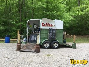 Vintage British 8' x 14' Coffee Concession Trailer / Mobile Cafe for Sale in Indiana, 2018 Remodel!