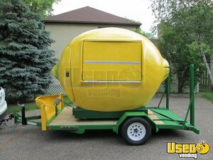 Brand New 2021 - 7' x 11' Lemon-Shaped Roll-Off Concession Stand with Trailer for Sale in Minnesota!