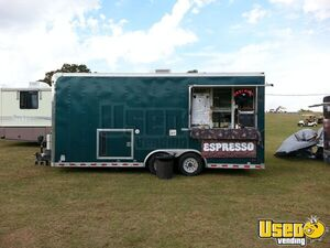 2005 Pace American 8'x 23' Coffee Concession Trailer Mobile Cafe with Bathroom for Sale in Oklahoma!