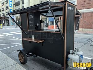 Used 2018 2' x 7' Custom-Built Coffee Concession Trailer in Perfect Shape for Sale in Rhode Island!