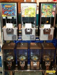 (13) - Bulk Candy / Gumball / Capsule Machines, Racks, Change Machine, Etc!!!