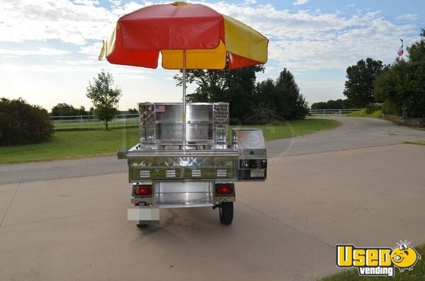 Stainless Hot Dog Cart Street Food Vending Cart For Sale