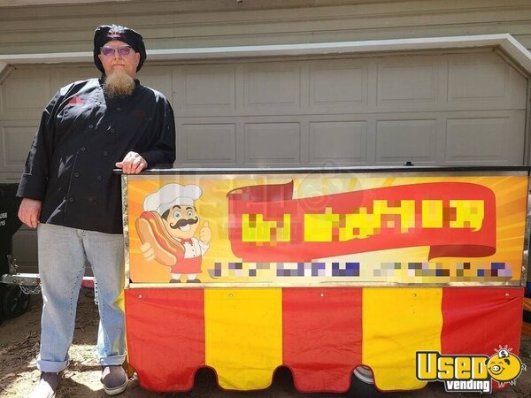 Chef Hot Dog Food Vending Concession Cart Food Cart Oklahoma for Sale
