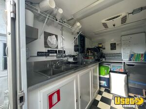 Coffee Concession Trailer Beverage - Coffee Trailer Exterior Customer Counter Florida for Sale