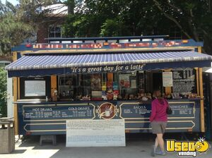 8.5' x 18' Turnkey Coffee Trolley Concession Trailer for Sale in New Hampshire!