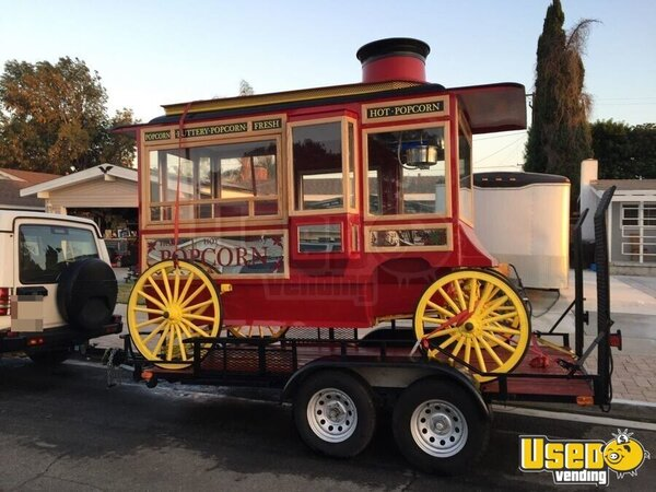 55 X 12 Antique Style Popcorn Wagon With Trailer For Sale In California