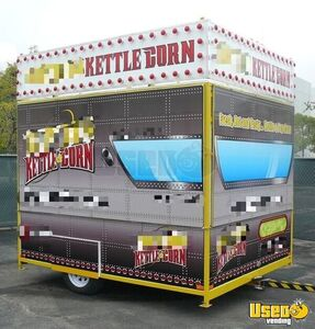 Ready to Pop 2010 - 8.5' x 10' Kettle Corn Carnival Style Concession Trailer for Sale in California!
