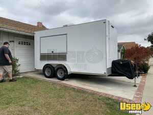 Spotlessly Clean Never Used 2018 - 6.5' x 14' Food Concession Trailer for Sale in California!