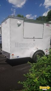 Used Once 2018 5' x 8' All-Electric American Hauler Food Concession Trailer for Sale in Connecticut!
