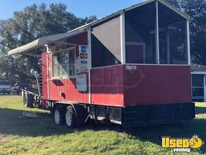 Used 2010 - 20' Food Concession Trailer with Screened Porch for Sale in Florida!