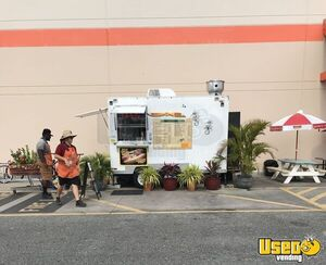 TURNKEY 2014 - 8' x 12' Street Food Concession Trailer w/  Pro Fire Suppression System for Sale in Florida!