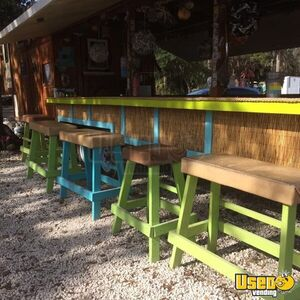Fifth Wheel Tiki Bar / Used Mobile Food and Beverage Unit with 2017 Kitchen for Sale in Florida!