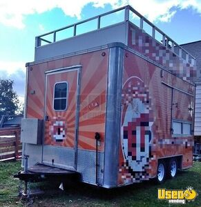 Gorgeous 8' x 16' Street Food Concession Trailer / Used Mobile Food Unit for Sale in Indiana!