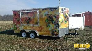 2017 7' x 14' Food Concession Trailer / Used Concession Trailer for Sale in Indiana!