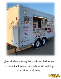 Used 8' x 16' Heavy Duty Food Concession Trailer with Commercial Grade Equipment for Sale in Iowa!