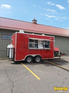 2018 - 8.5' x 14' Fully Equipped Mobile Kitchen Food Concession Trailer for Sale in Iowa!
