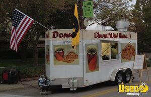 2010 7' x 16' Mini Donut & Coffee Concession Trailer w/ Pro Fire Suppression for Sale in Iowa!