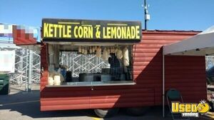 Enclosed Log Cabin Style 30' Kettle Corn Concession Trailer / Mobile Food Unit for Sale on Kansas!