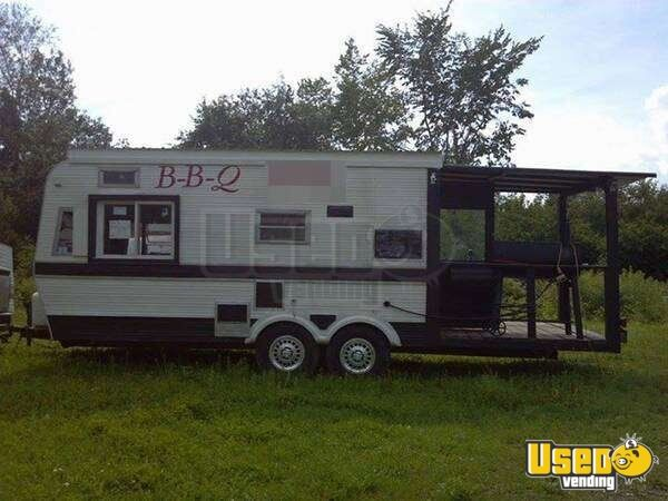 For Sale Used Bbq Trailer With Smoker Porch In Maine