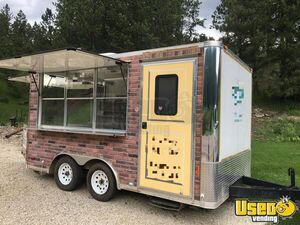 Used 2014 - 8' x 14' Street Food Vending Concession Trailer for Sale in South Minnesota!