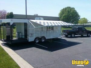 24' BBQ Trailer with Porch for Sale in Missouri!!!