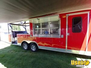 2015 - 8.5' x 28' BBQ / Food Concession Trailer w/ Porch for Sale in New Mexico!