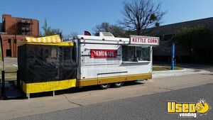 Used 8' x 16' Food Concession Trailer / Clean and Spacious Mobile Food Unit for Sale in Oklahoma!