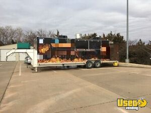 2012 - 28' BBQ Concession Trailer with Porch for Sale in Oklahoma!!!