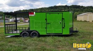2019 - 8.5' x 20' Diamond Cargo V-Nose Food Concession Trailer with Porch for Sale in Pennsylvania!