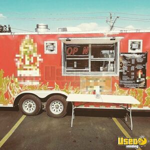Used Mobile Kitchen Food Concession Trailer with Pro Fire Suppression System for Sale in Tennessee!