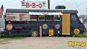 8' x 22' Food Concession Trailer Bus Conversion Used Bustaurant for Sale in Texas- UNIQUE!