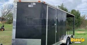 Unfinished 2016 Food Concession Trailer with Pro-Fire Suppression and Porch for Sale in Texas!
