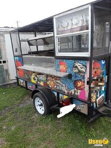 5' x 10' Compact 2015 Street Food Concession Trailer Used Small Mobile Kitchen for Sale in Texas!