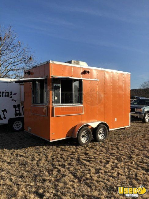 Very Clean 2017 7' x 14' Lark Cargo Food Concession Trailer/Used Mobile Food Unit for Sale in Texas!