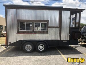 7' x 16.5' BBQ Concession Trailer with Porch for Sale in Texas!!!