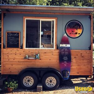 Ready to Use 2017 - 8' x 12' Beverage Concession Trailer / Mobile Food Unit for Sale in Texas!!