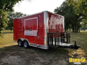 BARELY USED- 2017 LOADED  Freedom 8.5′ x 14′ Food Concession Trailer for Sale in Texas!