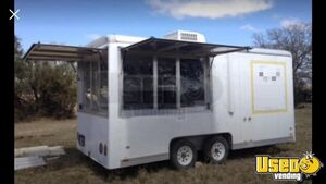 Ready to Equip 2007 Wells Cargo 7' x 16' Food Concession Trailer for Sale in Texas!