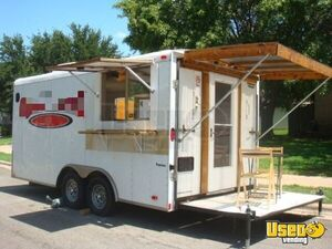 Ready to Go 2006 8.5' x 16' Continental Food Concession Trailer/Mobile Food Unit for Sale in Texas!