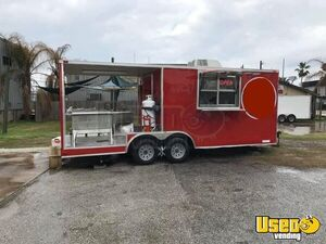 2017 8.5' x 20' Diamond Cargo Seafood / Street Food Concession Trailer with Porch for Sale in Texas!