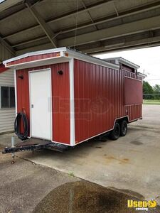 Newly Remodeled 7.5' x 20' Food Concession Trailer with Restroom for Sale in Texas!!!